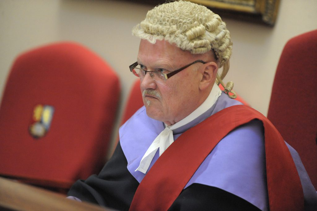 a judge looking angry
